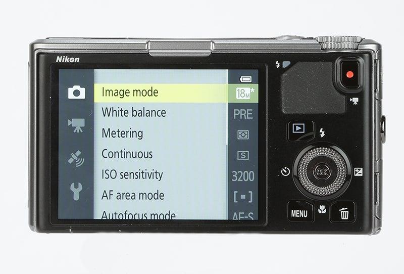 Nikon COOLPIX S9500 Review -  rear view