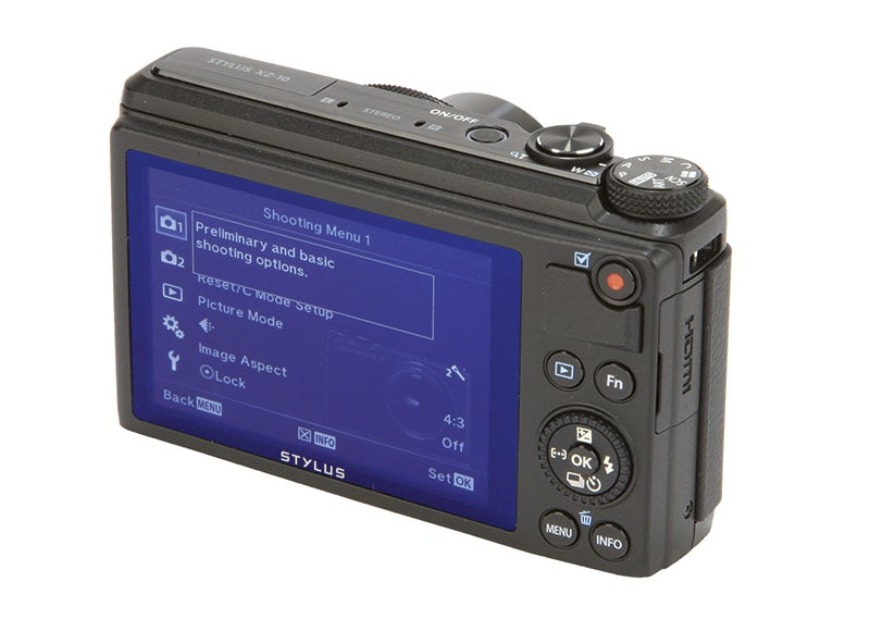 Olympus XZ-10 Review - touchscreen