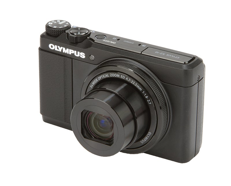 Olympus XZ-10 Review - front angle