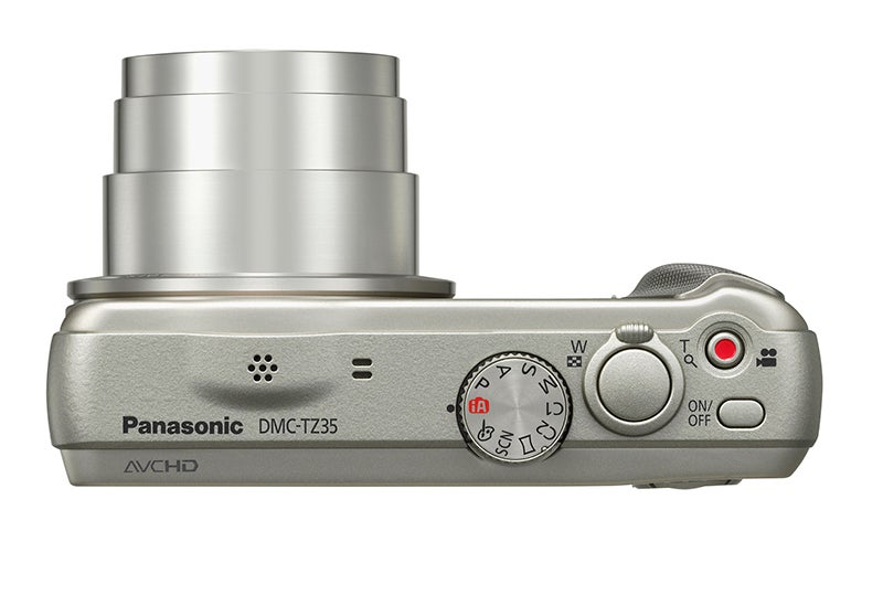 Panasonic Lumix TZ35 Review - top plate silver