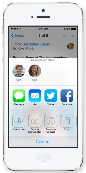 Apple iOS 7 Air Drop