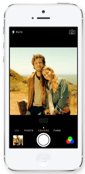 Apple iOS 7 square capture mode