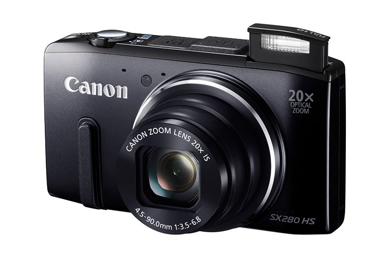 Canon PowerShot SX280HS Review - angled body