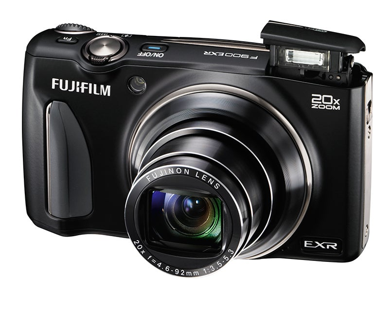 Fujifilm F900 EXR front angled