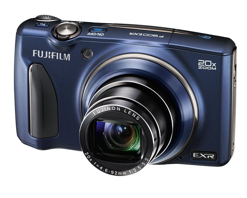 Fujifilm F900 EXR blue angled