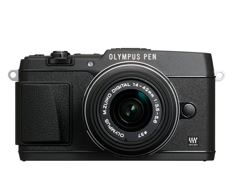 Olympus E-P5 Review - front view black