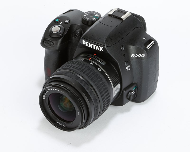 Pentax K-500 Review - angled