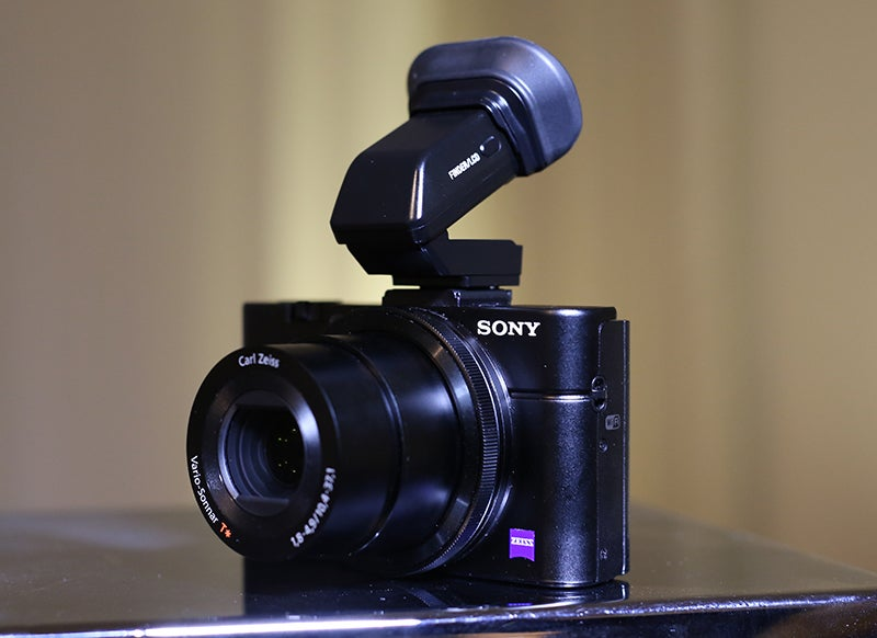 Sony RX100 II front angle
