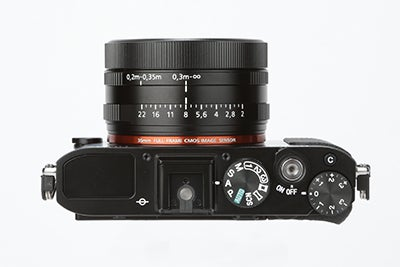 Sony RX1R Review -  top view