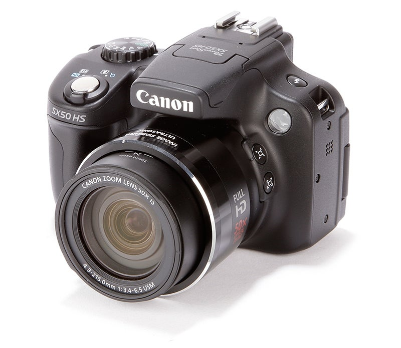 Canon PowerShot SX50 HS Review - front angle