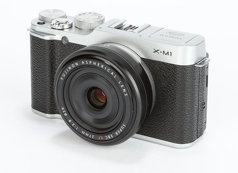 Fujifilm X-M1 Review - front angle
