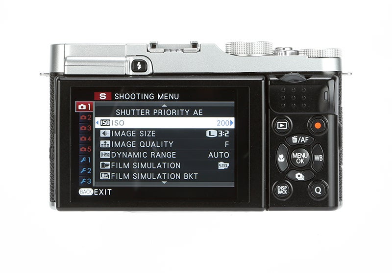 Fujifilm X-M1 Review - rear screen