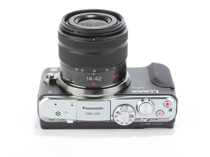 Panasonic Lumix GF6 Review - top view