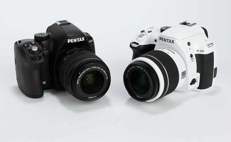 Pentax K-50 / K-500 side by side