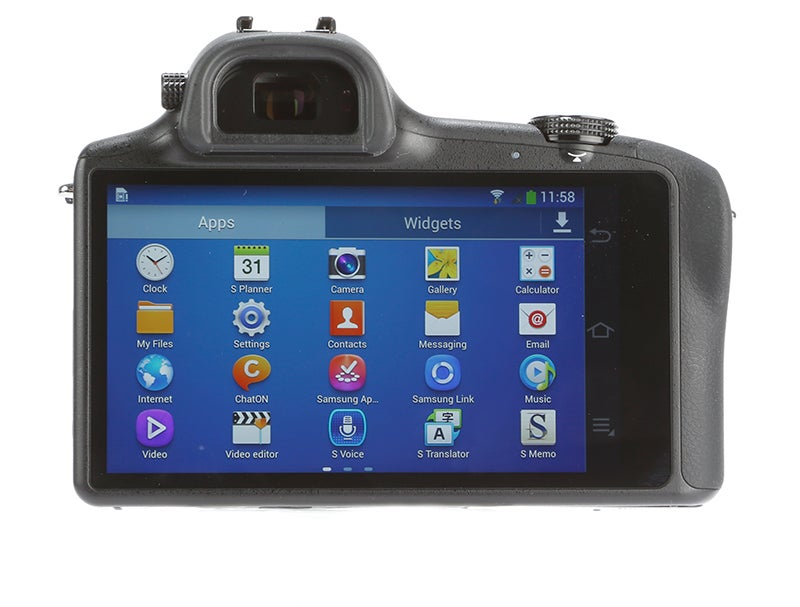 Samsung Galaxy NX Review - rear view