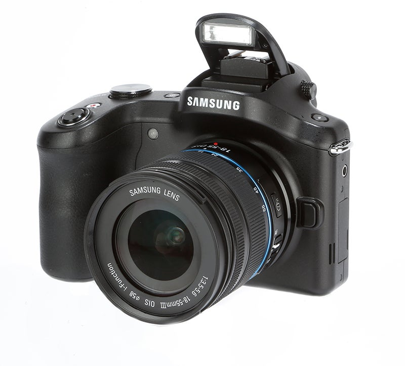 Samsung Galaxy NX Review - pop-up flash
