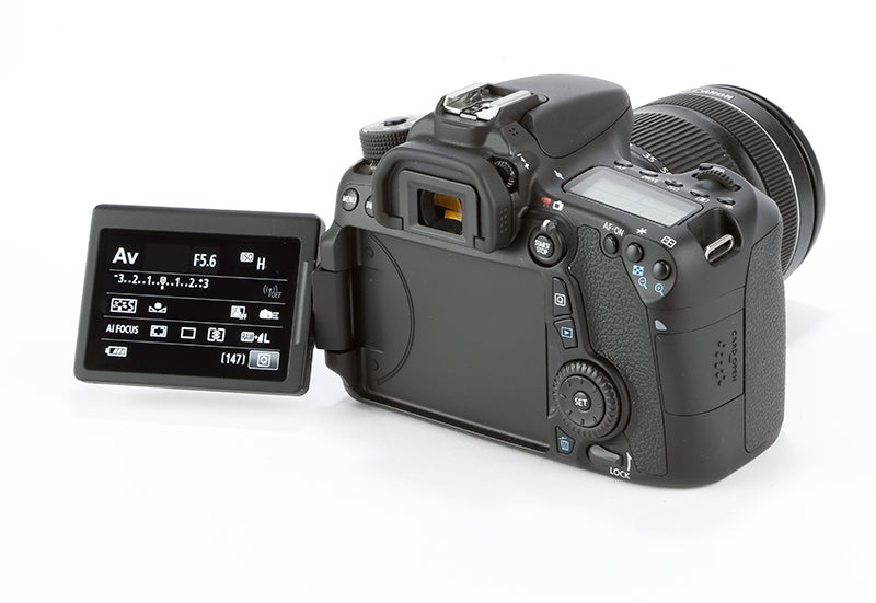 Canon EOS 70D rear view buttons