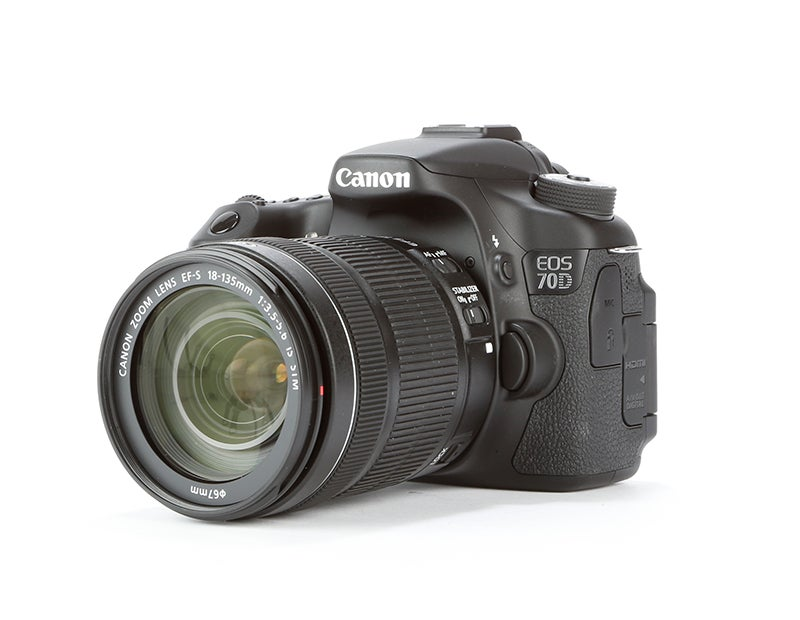 Canon EOS 70D front angled