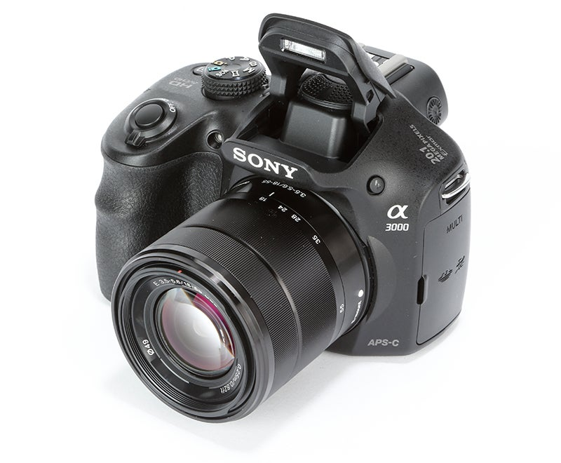 Sony A3000 front angled