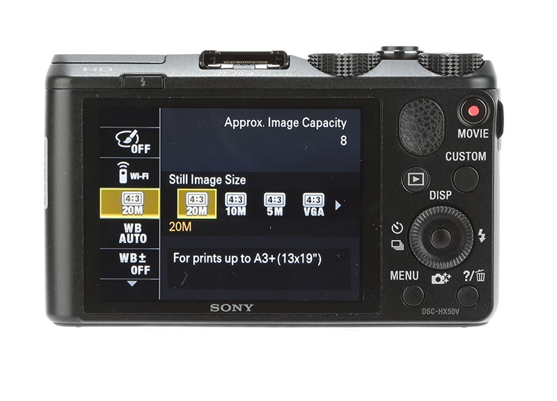 Sony Cyber-shot HX50 Review - rear