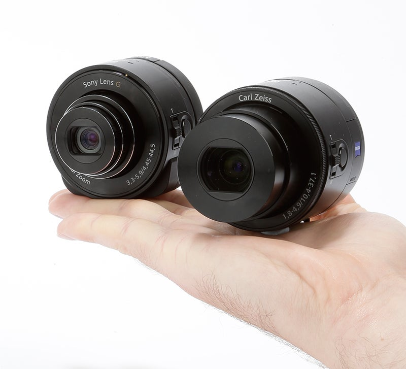 Sony QX100 and QX10 side by side