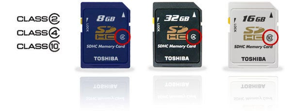 memory card speed class ratings