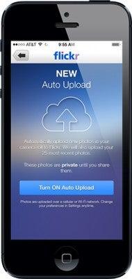 Flickr iOS 7 app Auto Upload
