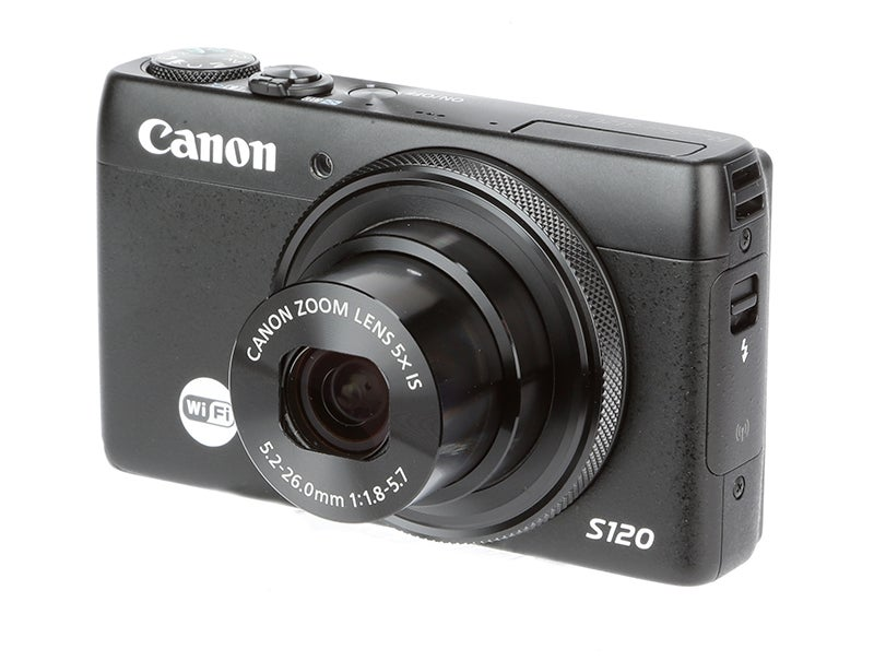 Canon PowerShot S120 Review – front angled