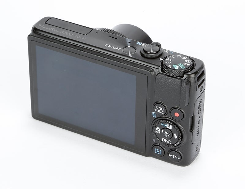 Canon PowerShot S120 Review – rear angled