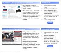Comparing camera insurance