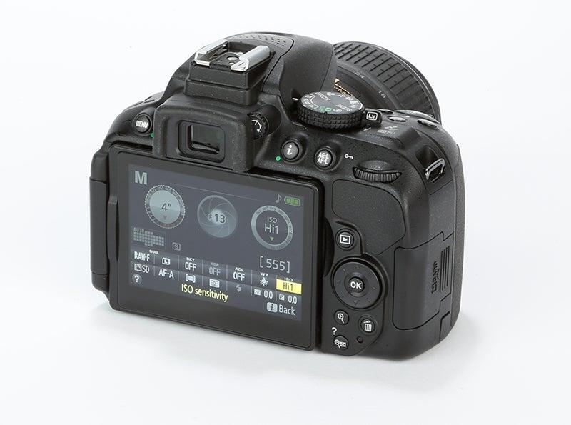 Nikon D5300 Review - rear angled