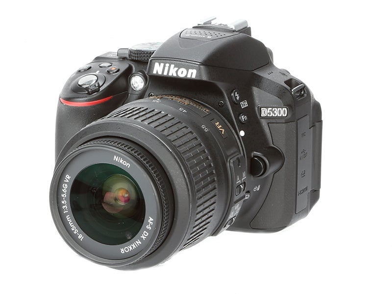 Nikon D5300 Review - front angled