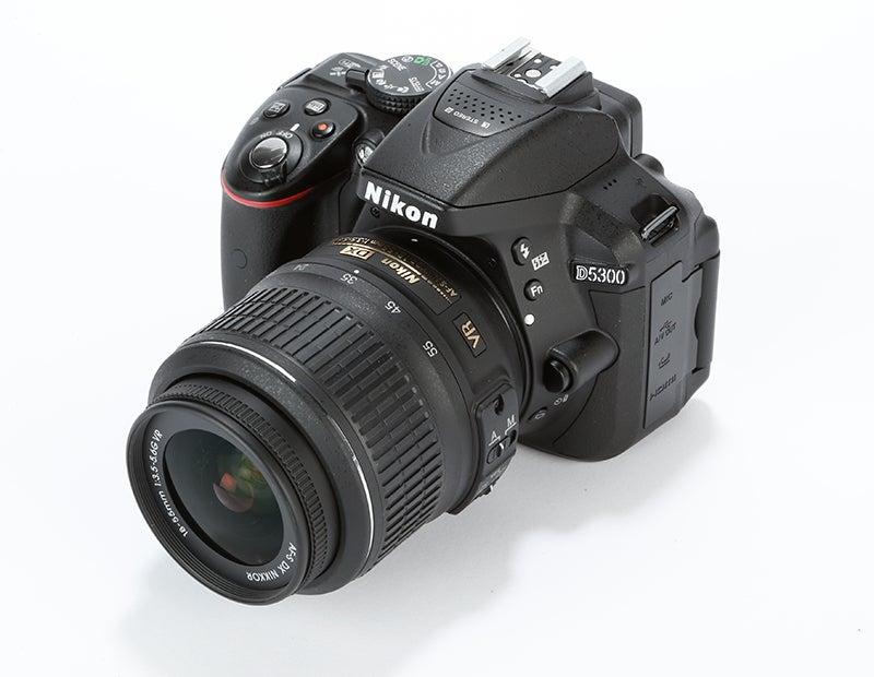 Nikon D5300 Review -  top angled