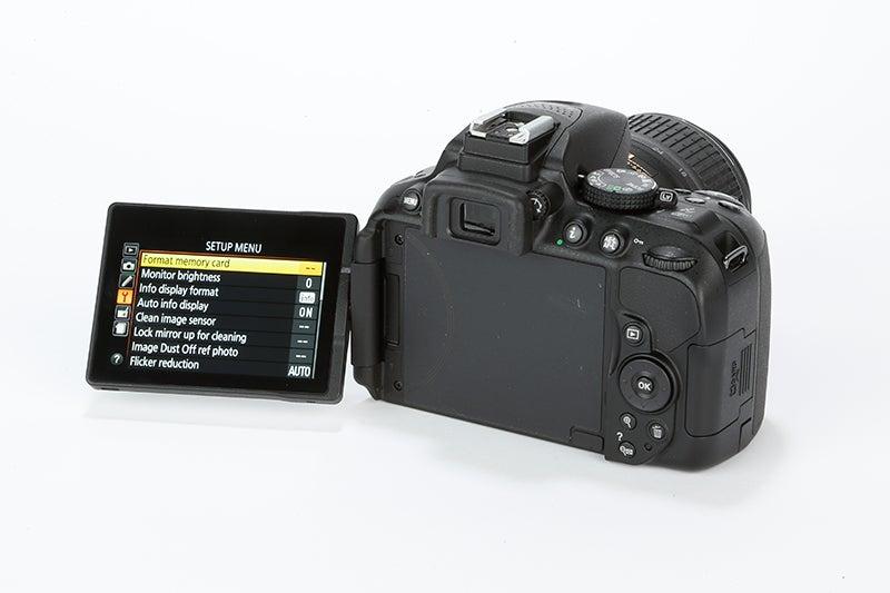 Nikon D5300 Review - rear screen angled