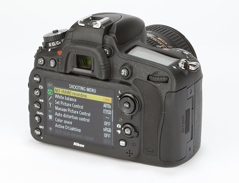 Nikon D610 Review – rear angled
