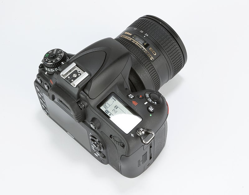 Nikon D610 Review –  top plate angled