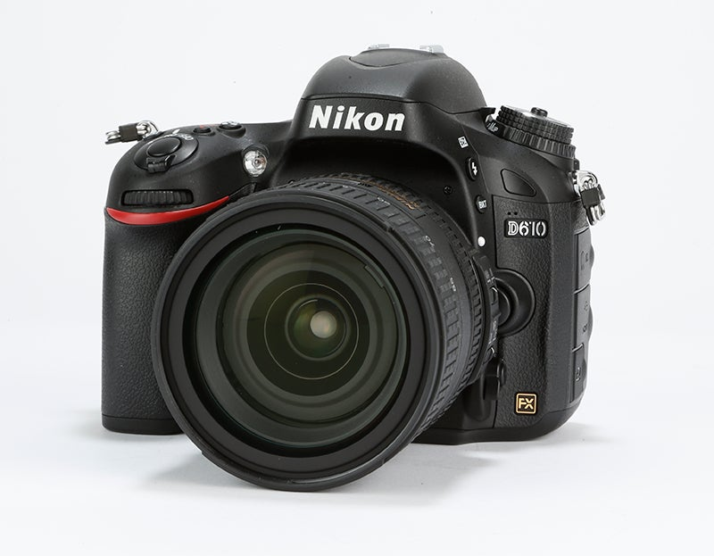 Nikon D610 Review –  front angled