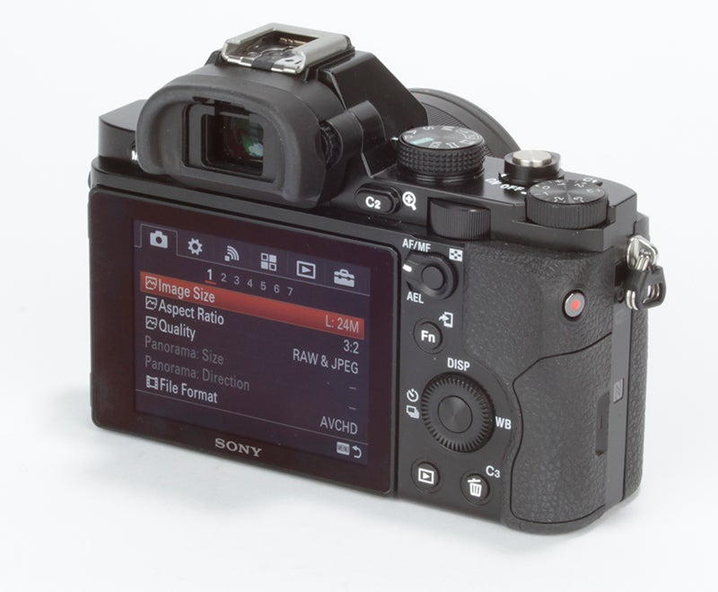 Sony Alpha 7 (A7) Review - rear view