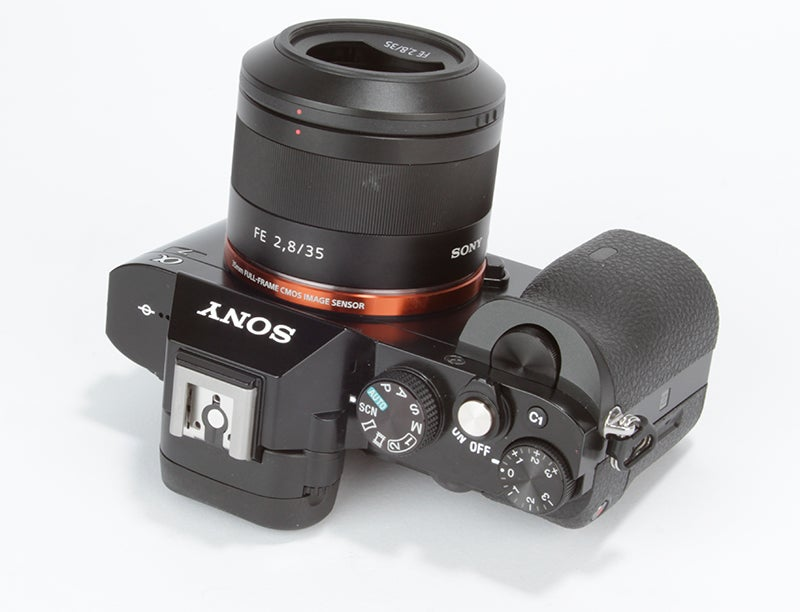Sony Alpha 7 (A7) Review - top view angled