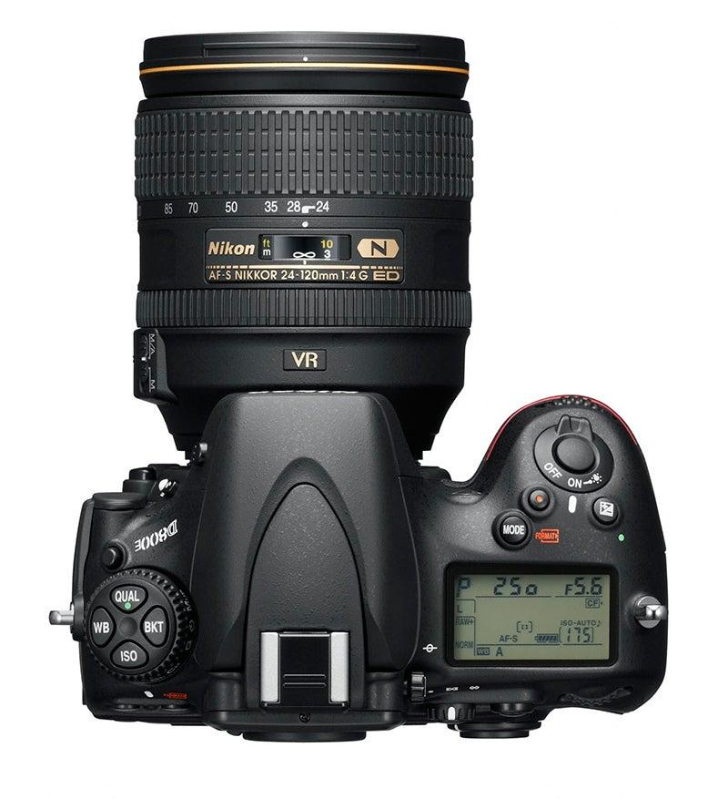 Nikon D800E top down