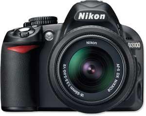 Nikon D3100 front view