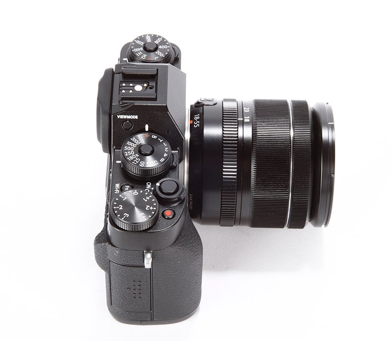Fujifilm X-T1 Review – top plate side view