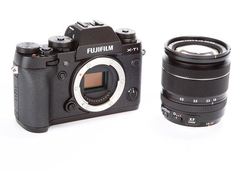 Fujifilm X-T1 Review – sensor angled