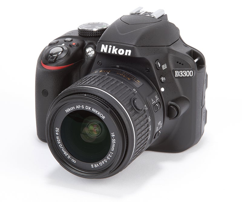 Nikon D3300 Review - front angled