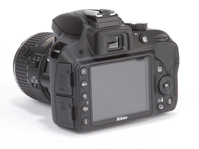Nikon D3300 Review - rear angled