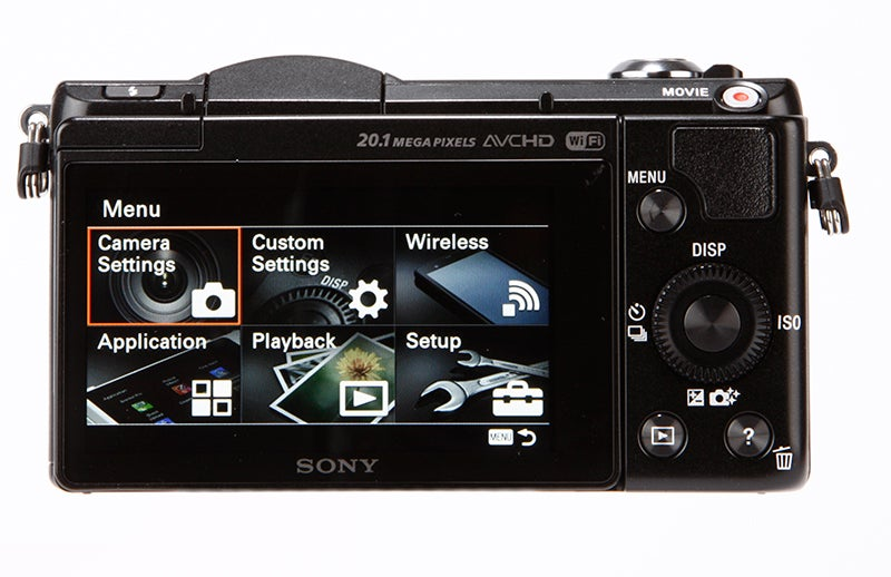 Sony A5000 Review -  rear