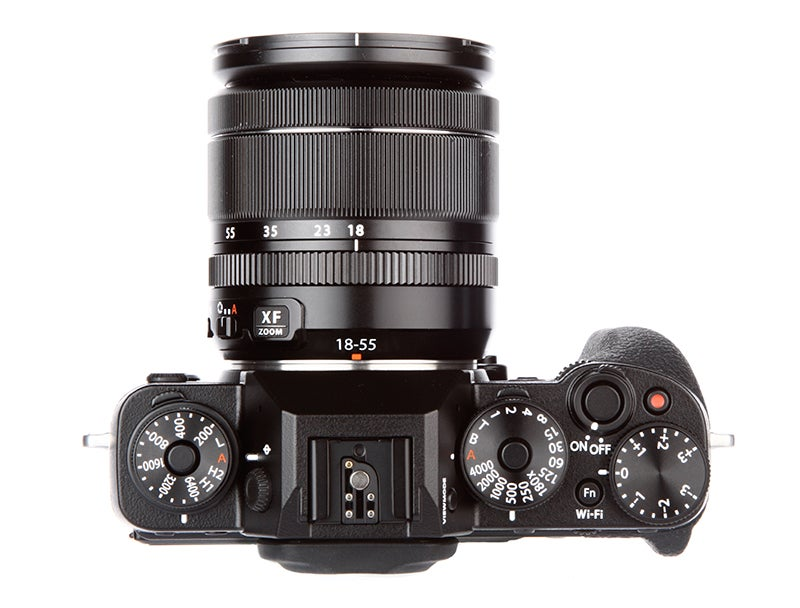 Fujifilm X-T1 vs Nikon Df - X-T1 top down