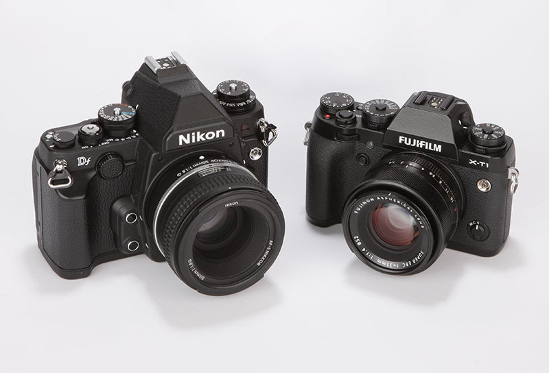 Fujifilm X-T1 vs Nikon Df paired