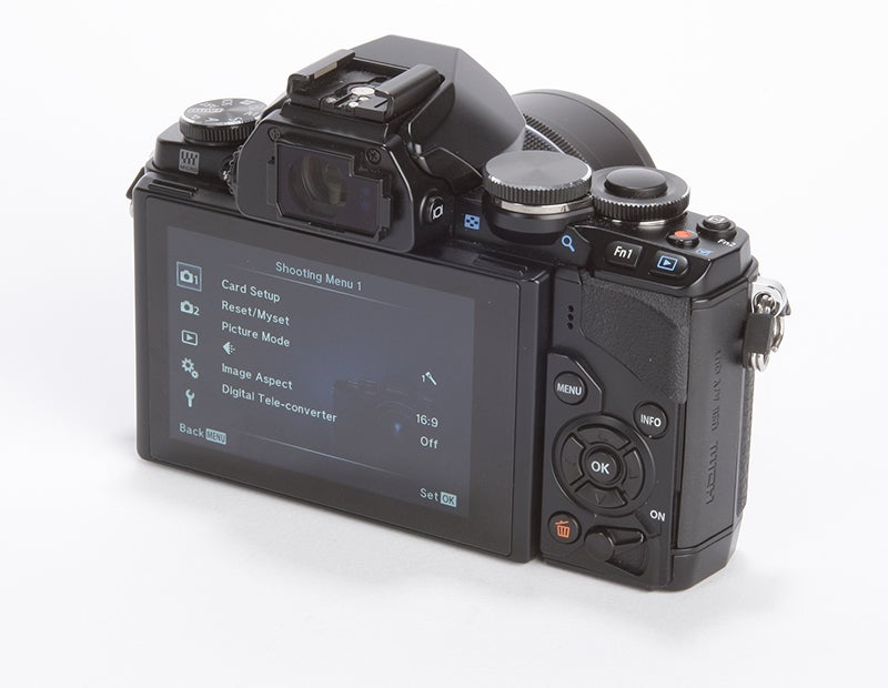 Olympus OM-D E-M10 Review - rear angle