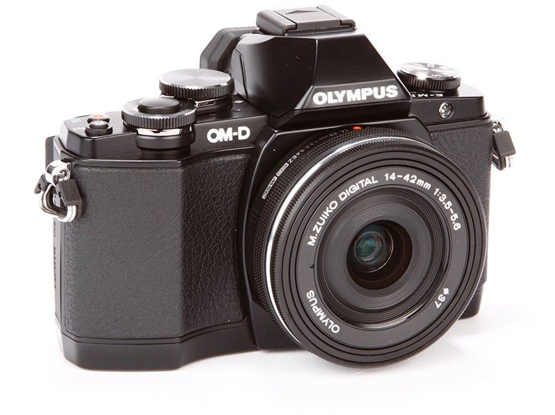 Olympus OM-D E-M10 Review - front angle